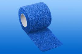 Kompressziós pólya NOBAHEBAN öntapadó, kék, 4,5m x 2,5 cm