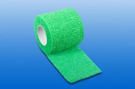 Kompressziós pólya NOBAHEBAN öntapadó, zöld, 4,5m x 7,5 cm
