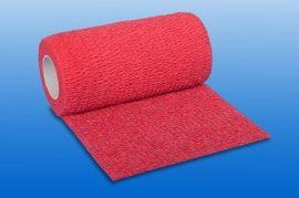 Kompressziós pólya NOBAHEBAN öntapadó, piros, 4,5m x 7,5 cm