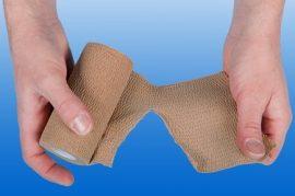 Kompressziós pólya NOBARIP könnyen téphető, 4,5m x 6 cm