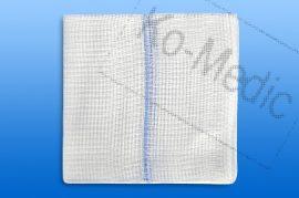Sebtörlő lap rtg. jelölővel (steril) 10x20 cm, 12réteg, 5 db törlő/fól, 50 fólia/dob
