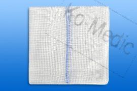 Sebtörlő lap rtg. jelölővel (steril) 10x10 cm, 16réteg, 10 db törlő/fól, 25 fólia/dob