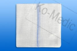 Sebtörlő lap rtg. jelölővel (steril) 10x10 cm, 32réteg, 5 db törlő/fól, 25 fólia/dob