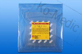 Preparációs törlő rtg. jelölővel (steril), 8x8 cm, 10 db törlő/fól, 35 fólia/dob