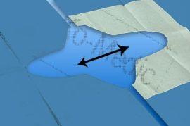 Osztott izoláló kendő NOBADRAPE VARIABLE 75x90 cm