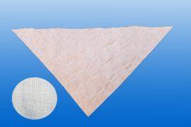 Háromszög kendő 96x96x136, textil anyagú, fehér szín