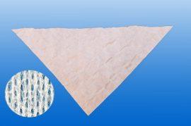 Háromszög kendő 96x96x136, nemszőtt anyag, fehér szín