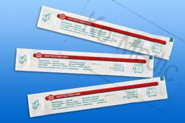 Pálcás tampon steril, fapálca 150 mm, fej 5 mm, 2db/csom